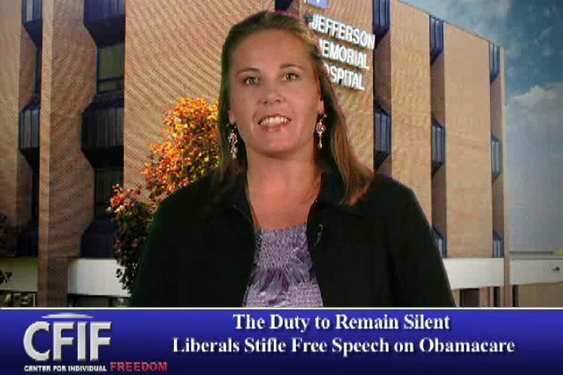 The Duty to Remain Silent - Liberals Stifle Free Speech on ObamaCare