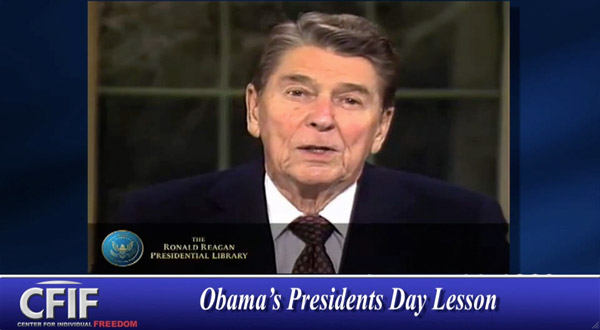 Obama's Presidents Day Lesson