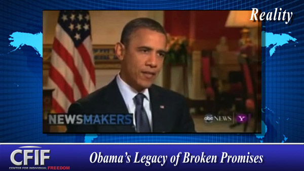 Obama's Legacy of Broken Promises
