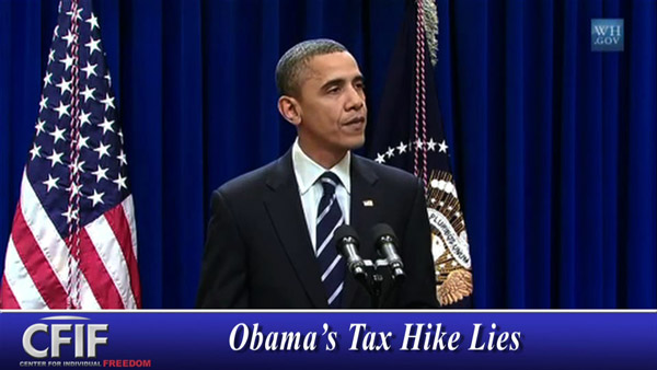 Obama's Tax Hike Lies