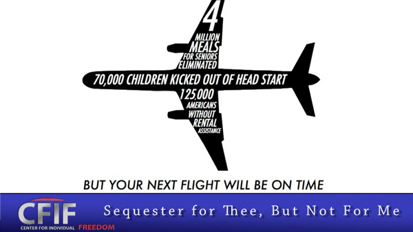 Sequester for Thee, But Not For Me