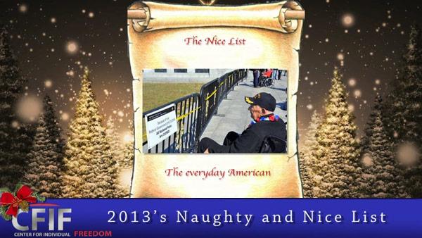 2013's Naughty and Nice List