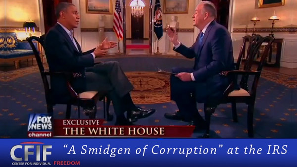 """A Smidgen of Corruption"" at the IRS"