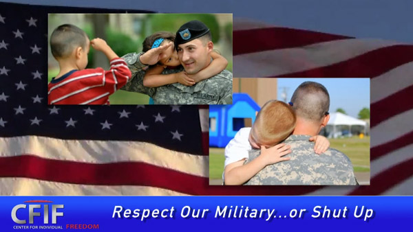 Respect Our Military… or Shut Up