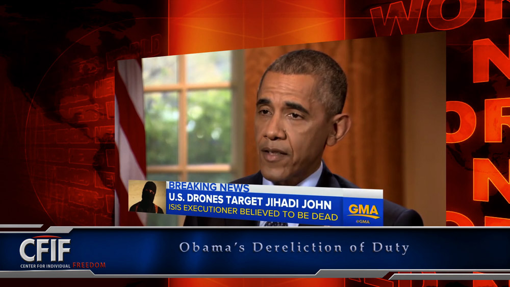 Obama's Dereliction of Duty
